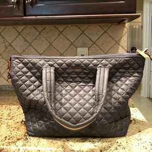 BRAND NEW MZ WALLACE Large Sutton Bag Magnet Gray